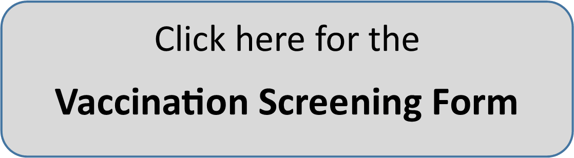 vaccination scrrening form button