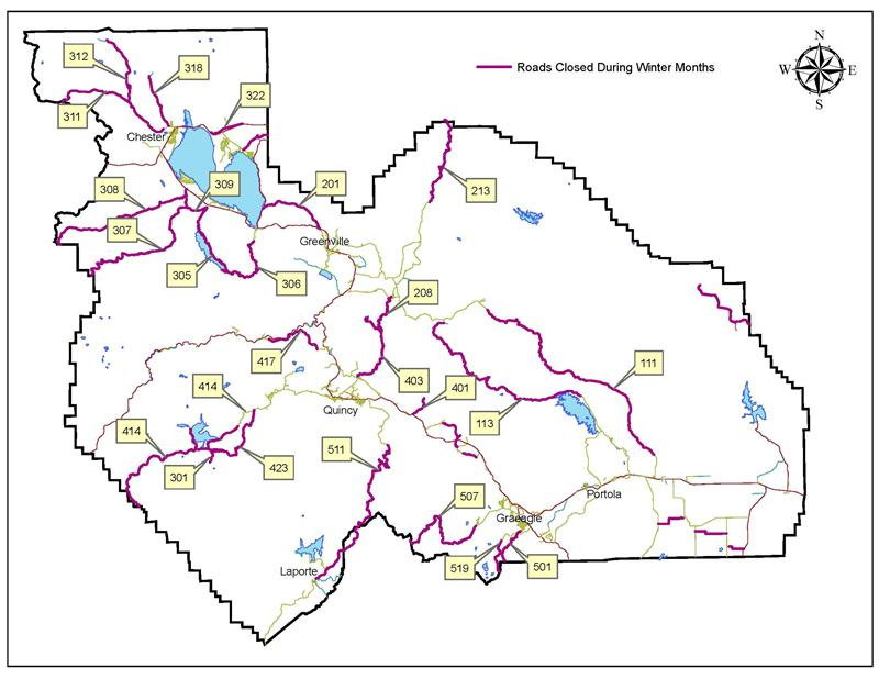 Caltran Traffic Map.Plumas County Ca Official Website Winter Road Closures And