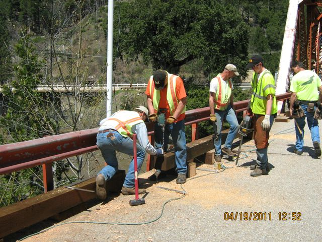 Working on Belden Bridge