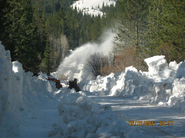 Buck's Snow blowing